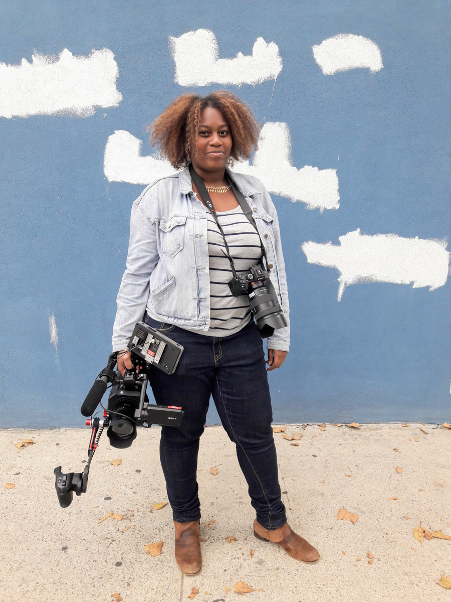 "Andreya D. Matthew - Camera Operator and AC Andreya D. Matthew is a Cinematographer born and raised in The Bronx. She graduated from Le Moyne College Syracuse, NY in 2014 with a Bachelor's Degree in Communications T.V. and Radio. Currently she is a Content Producer for the Black T.V. and Film Collective and produces several promo videos. She also had the opportunity to be 2nd Camera on an Independent film ""Mid-Life Crisis."" In addition to that, she was Assistant Camera on a short independent film ""One For The Road.""   Her Website : https://goo.gl/LJ2hXe  Promo Videos:  HTTPS://GOO.GL/MJVHGJ"